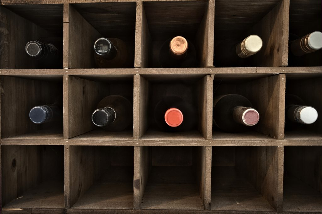 how to store wine bottles