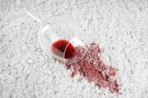 how to get red wine out of carpet