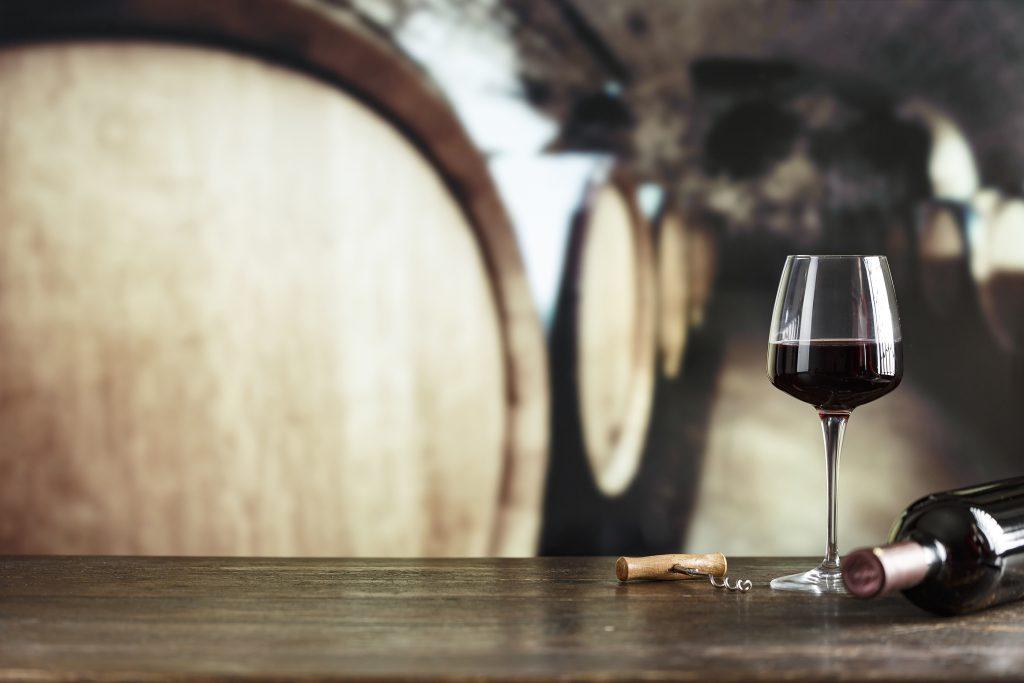 bigstock Wine Cellar With Bottle Of Win 395890313